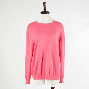 MALO – Pink Cotton Knit Vintage Sweater – Size XL